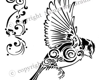 Bird In Flight Stencil/ As Seen On TV