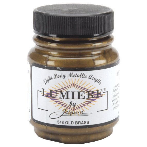 Jacquard Lumiere Old Brass Metallic Paint As Seen On Tv