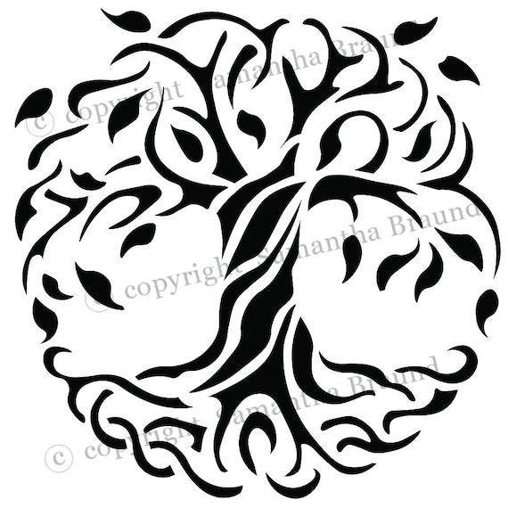 Keltischer Baum Des Lebens Schablone Als Seen On Tv 6 X 6 Etsy