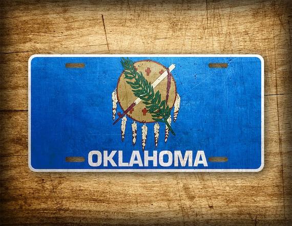Oklahoma Flag License Plate Ok State Official Flag Symbol Auto Etsy