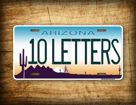 arizona personalized license plate any text custom | etsy