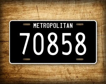 The Matrix Movie License Plate Metropolitan 70858 Auto Tag Agent Smith McFarlane The Film Neo