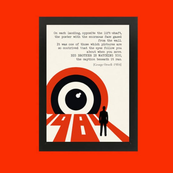 Poster 1984 Di George Orwell Download Immediato File Digitale Ready To Print Letteratura Citazioni Regali Natale Books Addicted Libr