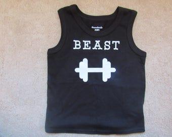 Beast Shirt, lifting shirt, boy gym shirt, toddler gym shirt, gym weights, toddler gym shirt, boy gym shirt, little boungym shirt, gym rat