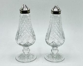 Vintage Waterford Crystal Salt and Pepper Shakers Glengarriff Pattern