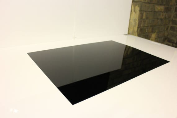 Nitto Jushi CLAREX Acrylic precision black sheet 1.5mm thickness 250x176mm N-885
