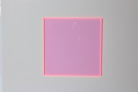 3mm W-091 Fluorescent light pink acrylic sheet 297x370mm
