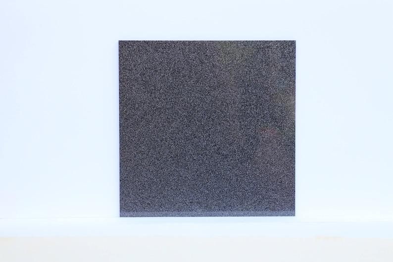 2mm W902 black silver glitter acrylic sheet 120x120mm