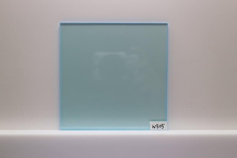 3mm W505 transparent fluorescent blue acrylic sheet