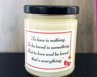 Organic Signature Candles- Love Inspirational-Vegan Candles- Scented Candles- Valentine Gifts- Romantic Candles- White Candles