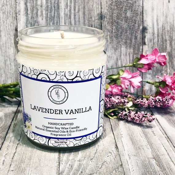 8oz Candle Natural Scented Soy Wax Candle for Home Decor and Gifts Ideas VANILLA Canada LAVENDER