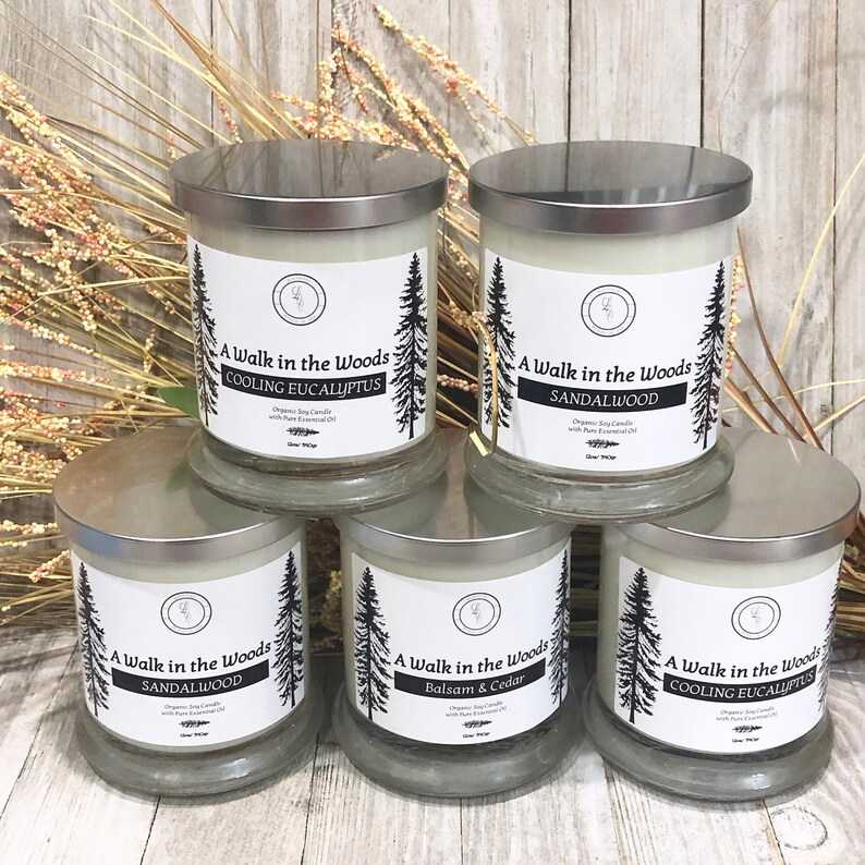 NEW LINE Aromatherapy Organic Soy Candle  A Walk In The image 0
