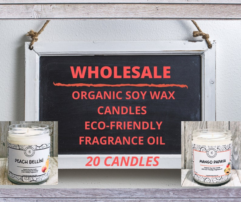 20 Organic Soy Wax Candles Premium Candles Wholesale Fun image 0