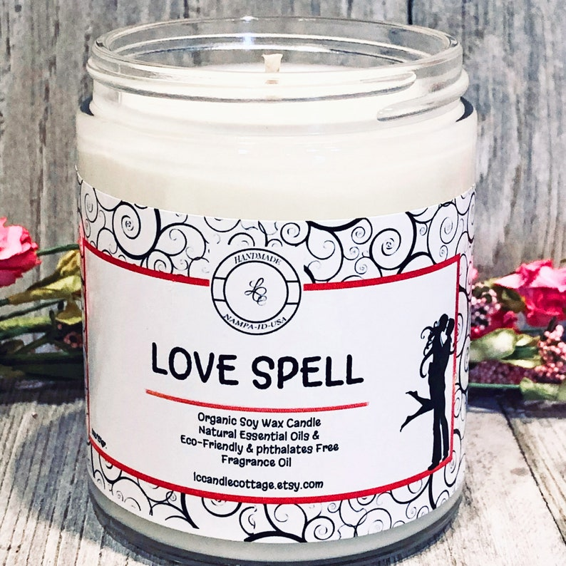 Love Spell Organic Soy Candle Vegan Romantic Candle  image 0