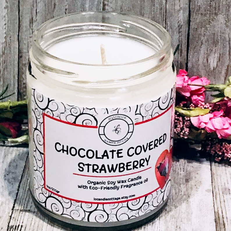 Chocolate Covered  Strawberries Natural Soy Candle  image 0