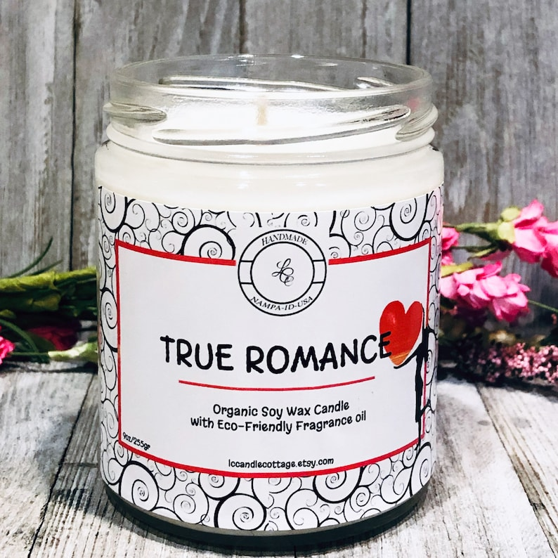 True Romance Organic Soy Candle Romantic Candle Sensual image 0