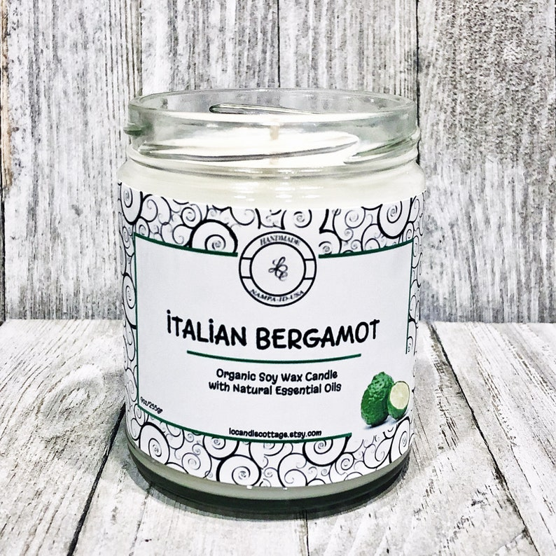 Italian Bergamot Natural Soy Candle Scent-Pure Candles image 0