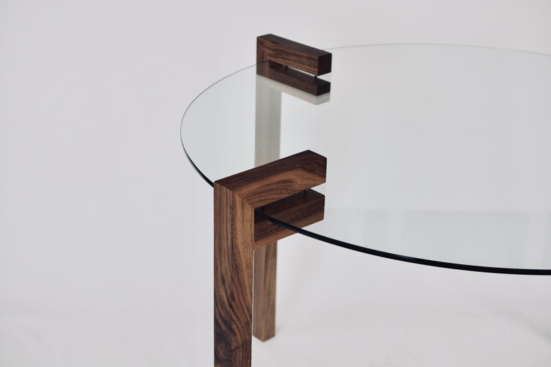 Coffee Table Nightstand End Endtable Console Adjustable Solid Oak Walnut Wood Legs Diy Clamp Clamping For Glass Marble Wood Stone Concrete