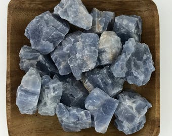 Blue Calcite Large - Raw Blue Calcite - Natural - Rough - Throat Chakra - 5th Chakra - Reiki - Energy Healing