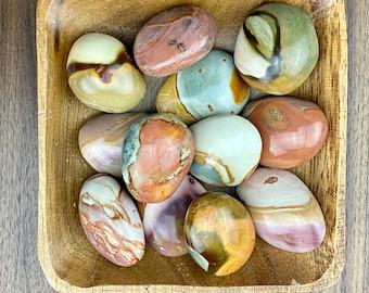 Polychrome Jasper PALM STONE - Desert Jasper - Fortune Crystal - Fortune Stone - Healing Crystals and Stones