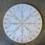 Helm of Awe Crystal Grid  - Altar Decoration - Wall Art