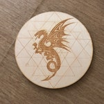 Dragon Crystal Grid  - Wall Art - Altar Decoration