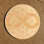 Infinity Flower of Life Crystal Grid - Infinity Crystal Grid - Altar Decoration - Wall Art