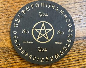 Wood Engraved Pendulum Board #2 Crystal Grid - Altar Decoration