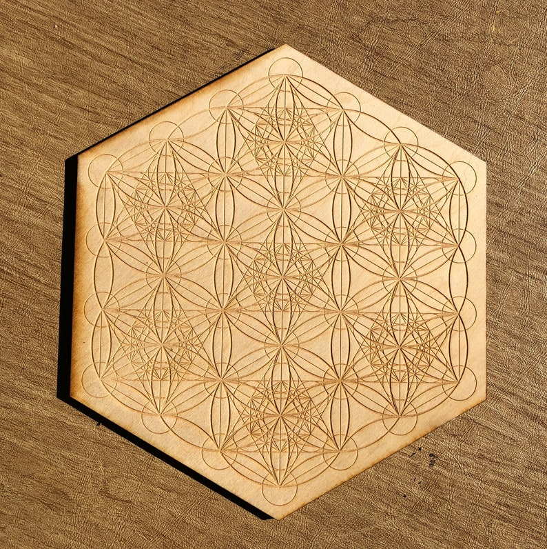 Metatron's Cube Seed of Life Crystal Grid  Altar image 0