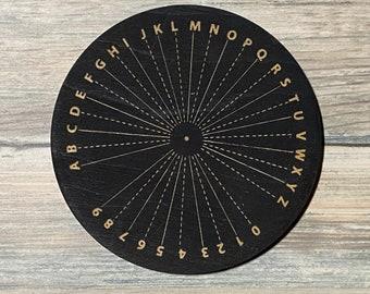 Wood Engraved Pendulum Board - Pendulum Board  - Altar Decoration