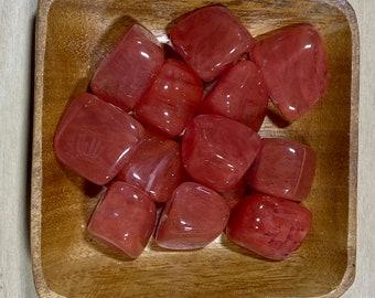 Strawberry Obsidian TUMBLED Strawberry Obsidian - Heart Chakra Stone -  Root Chakra Crystal -  healing crystals and stones