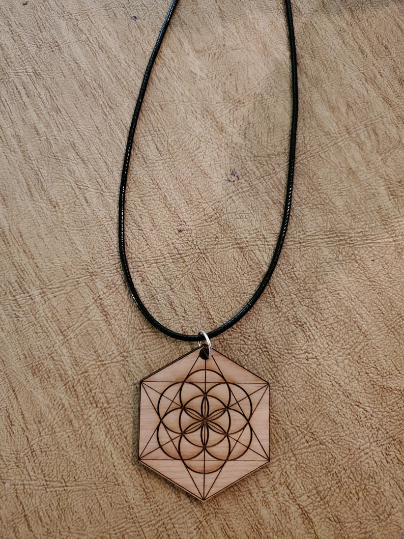 Seed of Life  Alder or Walnut Wood  Sacred Geometry image 0