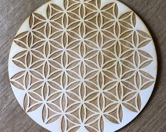 Flower of Life Crystal Grid - Inverted Flower of Life - Altar Decoration