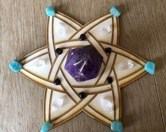 Celtic Star Crystal Grid  - Altar Decoration