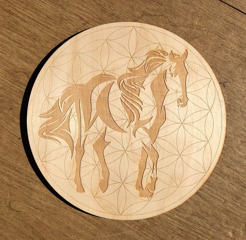 Horse Flower of Life Crystal Grid  Horse Crystal Grid  Wall image 0