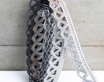 Metal Trim Ribbon, 3 foot piece, Metal Banding, Metal Embossed, Metal Stamping, Roman, Embellishment Trim by Pepperberry Market