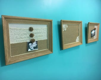 Lace and Doiley Picture Frames, Antique Frames, Office, Home, Wall Decor by Pepperberry Market