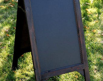 "Wood Framed Standing Chalkboard Easel 24"" (two sided), Menu Board, Wedding, Ceremony, Event Display"