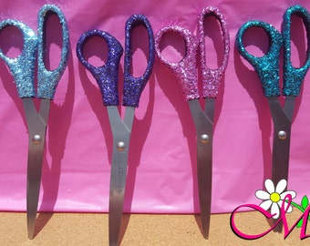 Glitter Scissors, Office Supplies, Craft Scissors, (Your Choice of Color), Full Size Scissors, Pink Scissors, Purple Scissors, Blue Scissors