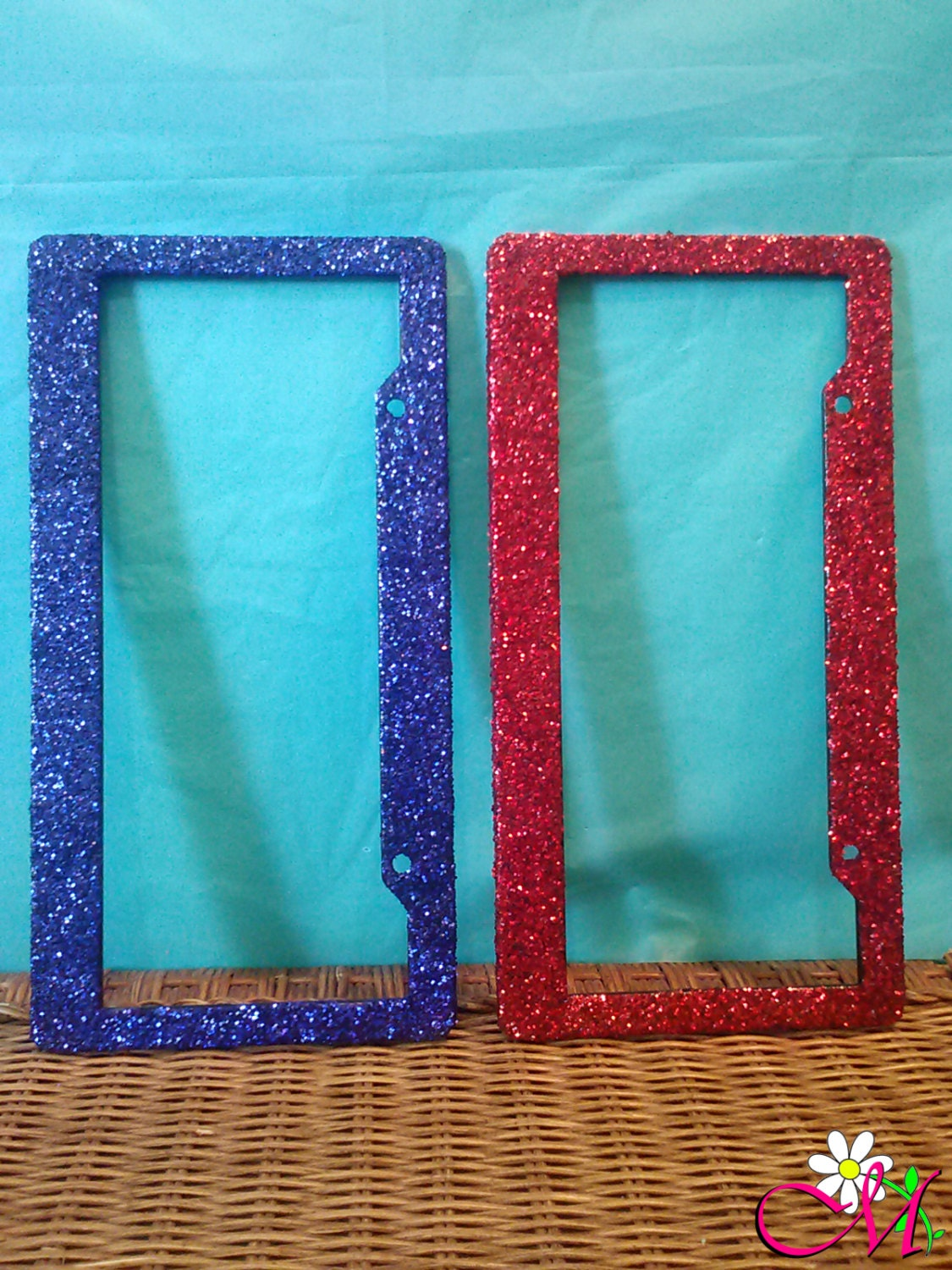 Glitter Stainless Steel License Plate Frame, Bling License Plate ...