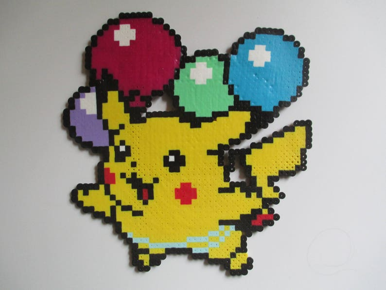 d84636648aeae5 Perler Bead Balloon Pikachu Model image 0