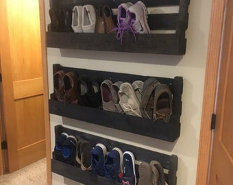Wood Shoe Rack Etsy