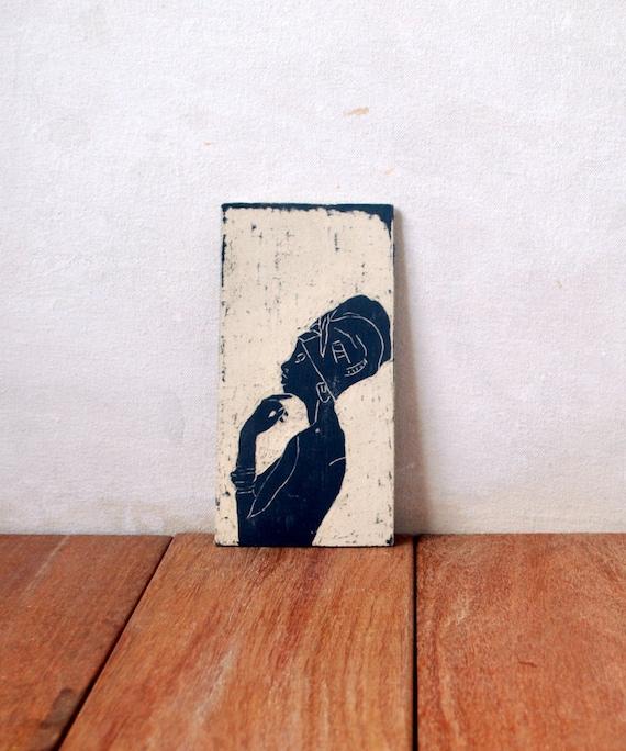 White Ceramic Tile African Wall Art Ceramic Wall Art Wall Etsy