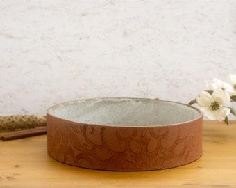Round Speckled Clay Baking Dish