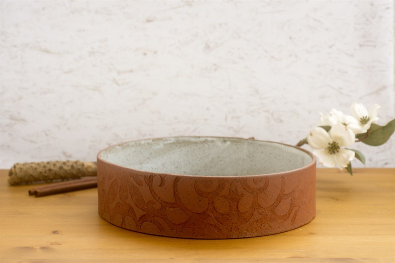Round Speckled Clay Baking Dish image 0
