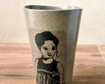 Ceramic Coffee Mug, Pottery Coffee Mug, Ceramic Coffee Cup, Unique Coffee Mug, Pottery coffee Cup, Gray Stoneware Mug, Pottery Gift