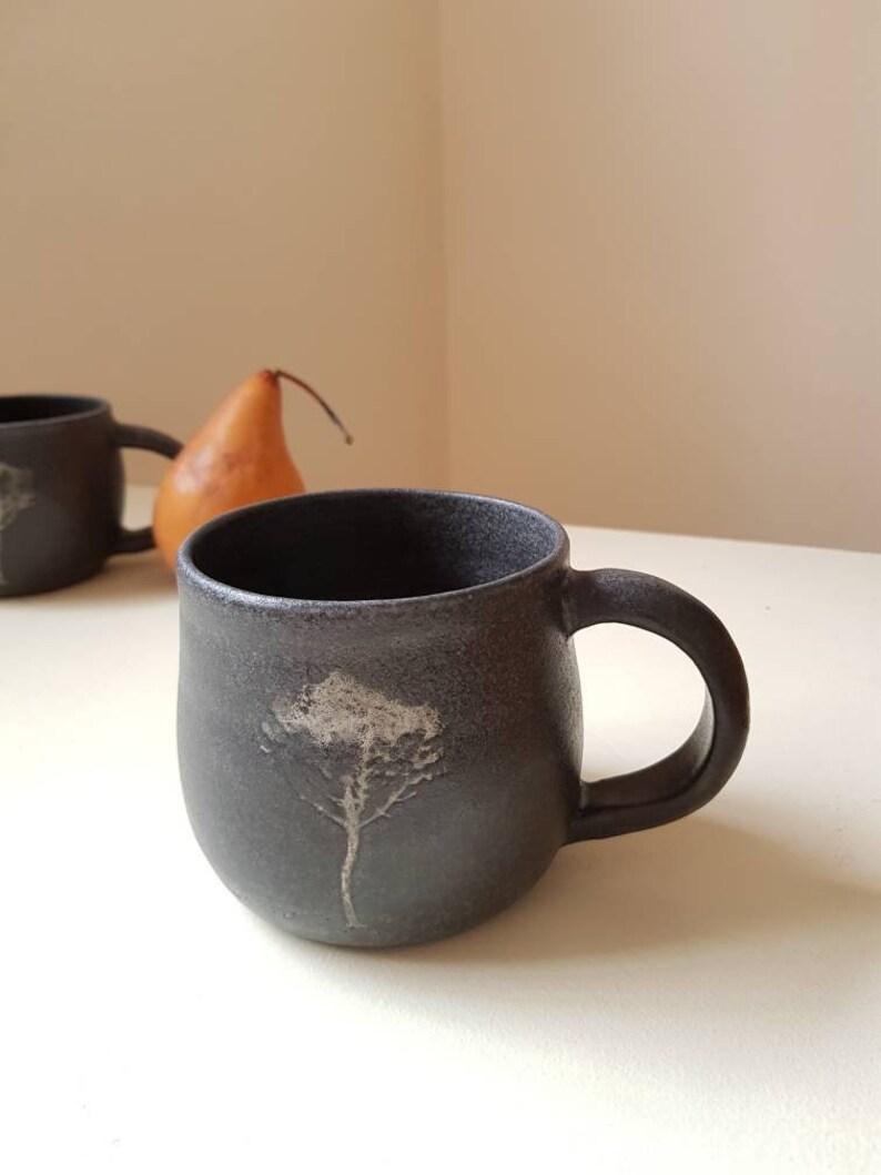 Unique Coffee Mug Ceramic Mug Tree Mug Pottery Mug Pottery image 0