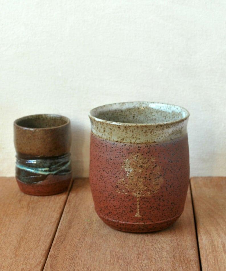Tree Mug Wheel Thrown Mug Unique Coffee Mug Pottery image 0