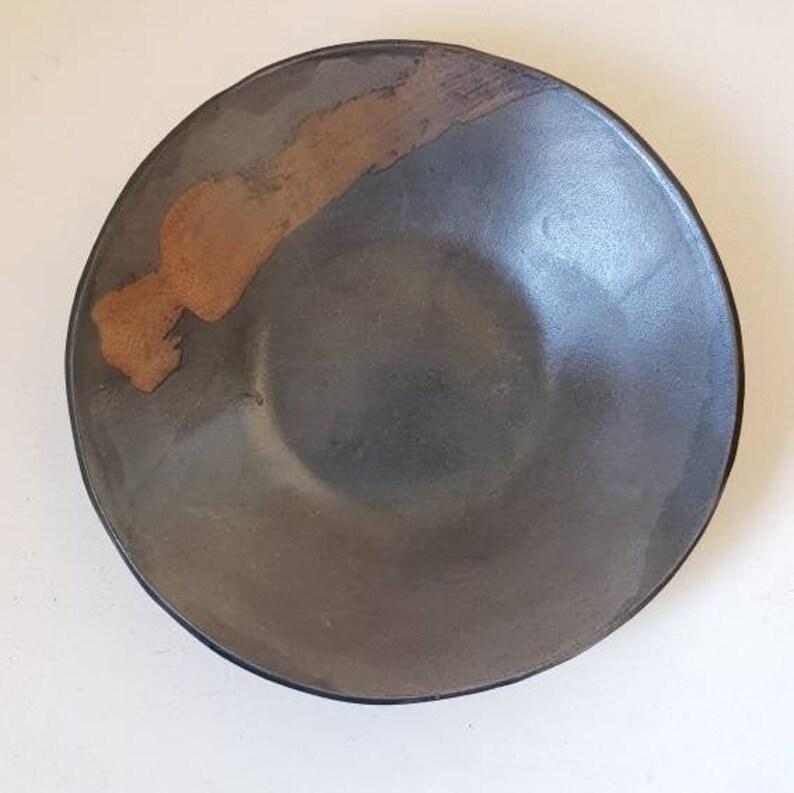 Pottery Bowl Ceramic Bowl Japan Bowl Black Ceramic Bowl image 0