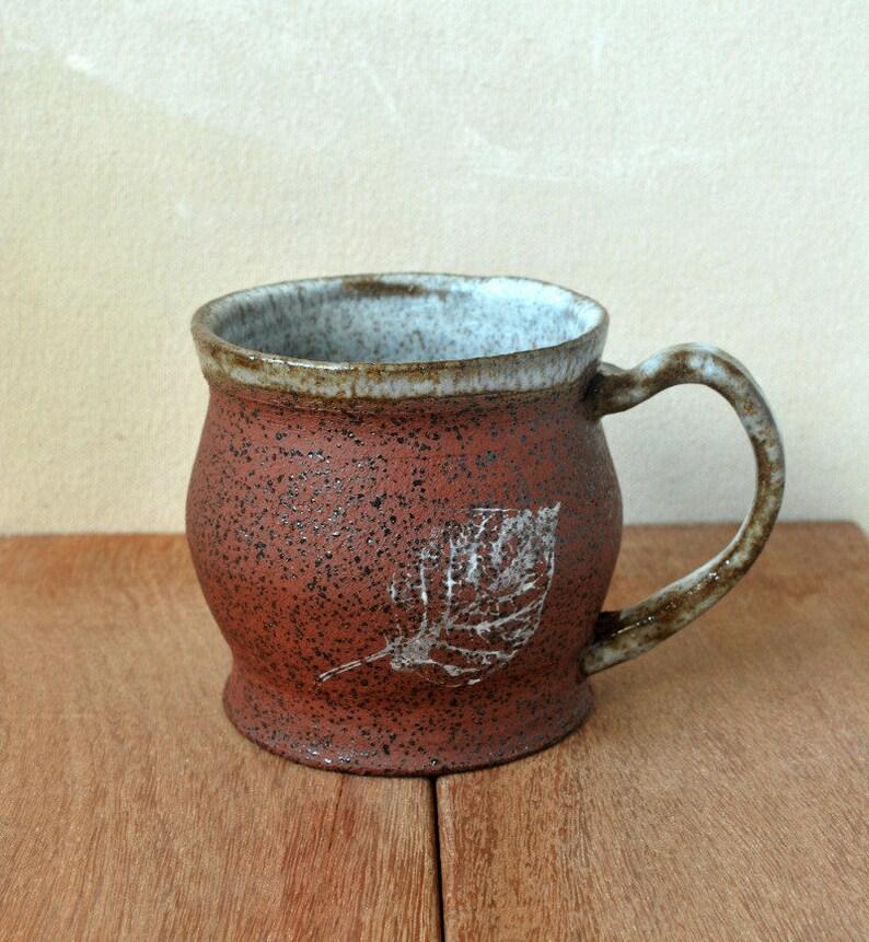 Rustic Coffee Mug Unique Coffee mug Hot Chocolate Mug image 0